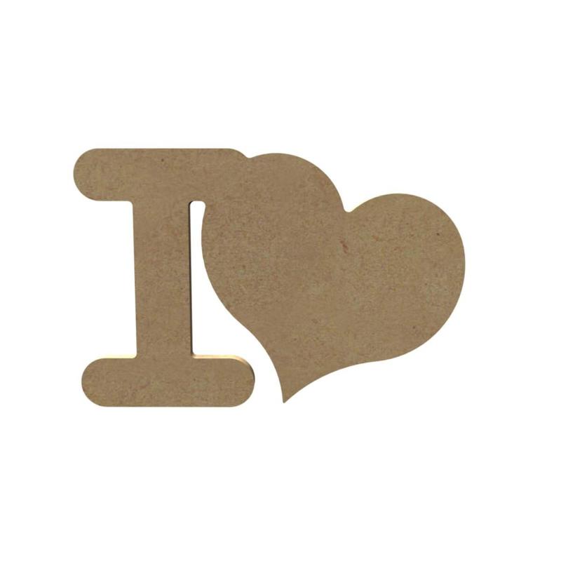 I Love 6 mm dik, 15 cm