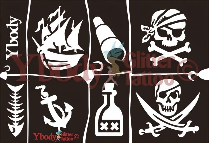 A5 Pirate Stencil