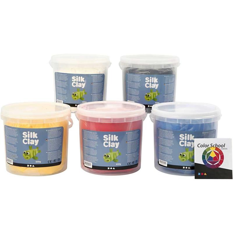 Silk Clay standaardkleuren 5 x 650 gram
