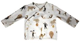 Baby overslagshirt circus