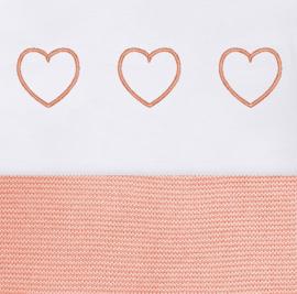 Laken met 3 hartjes (in diverse kleuren verkrijgbaar)