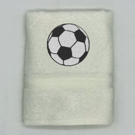 Handdoek met voetbal