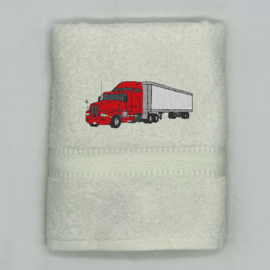 Handdoek met vrachtwagen
