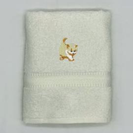 Handdoek met kitten