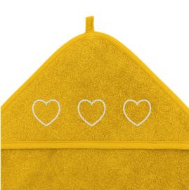 Badstof badcape met 3 hartjes (diverse kleuren)