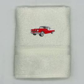 Handdoek met oldtimer auto