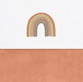 Laken met regenboog aardetinten