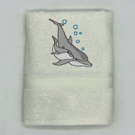 Handdoek met dolfijnen