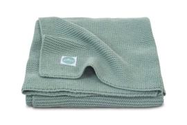 Deken  Basic knit forest green Jollein