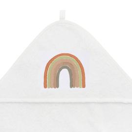 Badstof badcape met regenboog in aardetinten