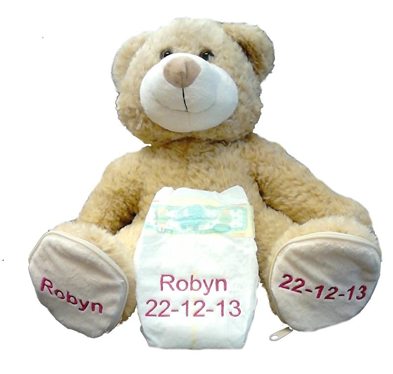 Geboortebeer met afritsbare voeten (tijdelijk uitverkocht)
