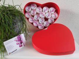 Cadeau Doosje Hartvormig Rood met 50 waxxies