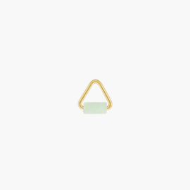 Jade Triangle Oorbel Hanger | 14K Gold Filled