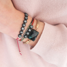 Black Synergy | Armband Leer Agaat