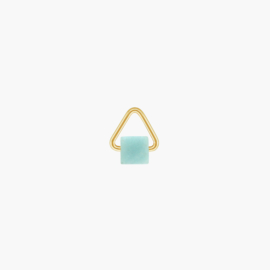 Amazoniet Triangle Oorbel Hanger | 14K Gold Filled