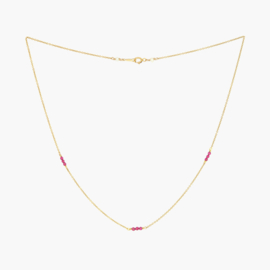 Granaat | Ketting - 14k Gold Filled