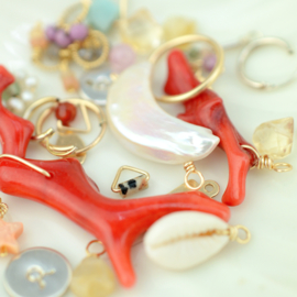 Raw Coral Oorbel Hanger | 14K Gold Filled