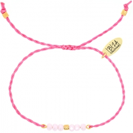 Namasté Light Pink | Twisted Glaskralen Armbandje