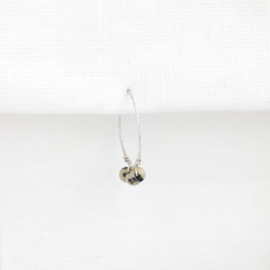 Sparkle Hoop Dalmatiër Jaspis | Oorbel - 925 Zilver