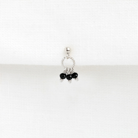 Spinel Stud | Oorknopje - 925 Zilver
