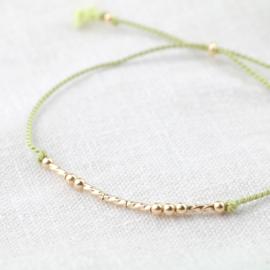 Silk Morse Code | Zijde Armbandje - 14k Gold Filled