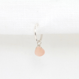 Maansteen Druppel Oorbel Hanger | 925 Zilver