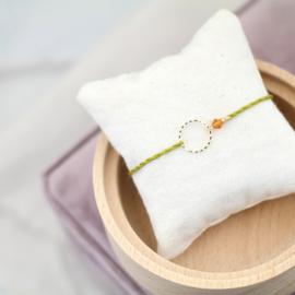 Blossom Birth Stone | Geboortesteen Cirkel Armbandje
