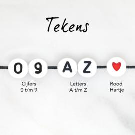 Naam Armbandje - Twisted Nylonkoord | Design Your Own