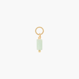 Jade Twisted Hanger | 14k Gold Filled