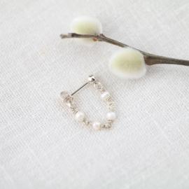 Pearly Stud | Oorbel - 925 Zilver
