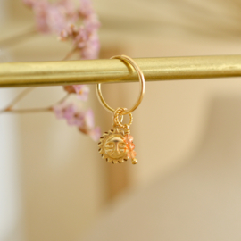 Zonnesteen Twisted Hanger | 14K Gold Filled