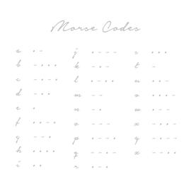 Custom Made - Morse Code Armband | Zilver