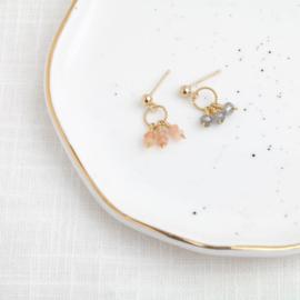 Labradoriet Stud | Oorknopje - 14K Gold Filled