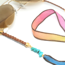 Sunny Chain Silk Rainbow | Zonnebrilkoord Zijde & Howliet