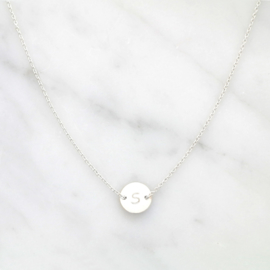 Lucky Coin Initial | Ketting Initiaal Muntje - 925 Zilver