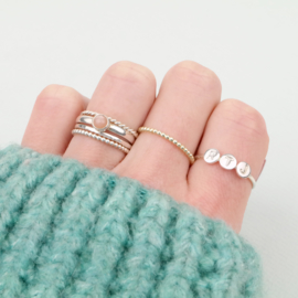 Three Initials Ring | 3 Initialen Ring - 925 Zilver