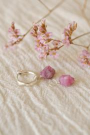 Roze Toermalijn Oorbel Hanger | 14K Gold Filled