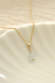 Granaat Ketting Bedel | 14K Gold Filled