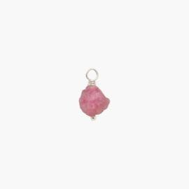 Roze Toermalijn Oorbel Hanger | 925 Zilver