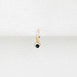 Spinel Triangle Oorbel Hangertje | 14K Gold Filled