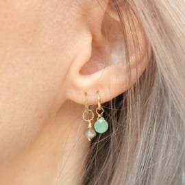 Gem Hoops | Oorringetjes Edelstenen Divers - 14K Gold Filled