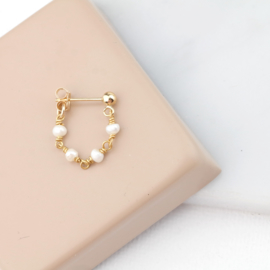 Pearly Stud | Oorbel - 14K Gold Filled