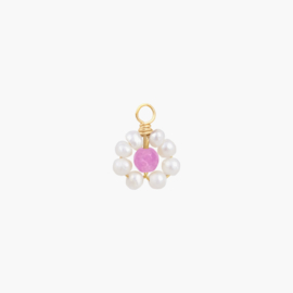 Daisy Oorbel Hanger - Purper | 14K Gold Filled