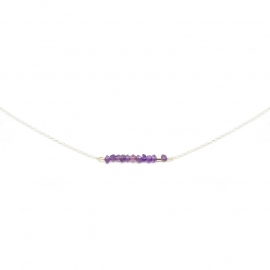 Blissfull Gem - Amethist | Ketting 925 Sterling Zilver