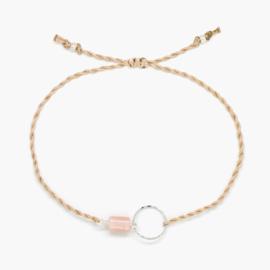 Blossom Sunstone | Zonnesteen Cirkel Armbandje