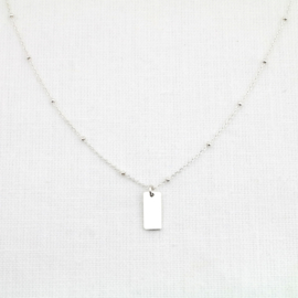 The Tag | Ketting (Initiaal) Hangertje - 925 Zilver