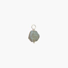 Labradoriet Oorbel Hanger | 925 Zilver