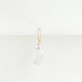 Pearl Moon Oorbel Hanger | 925 Zilver