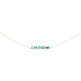 Blissfull Gem - Aquamarijn | Ketting 925 Sterling Zilver