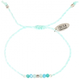 Namasté Blue Sky | Twisted Glaskralen Armbandje